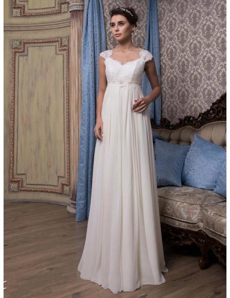 Fine and elegant online maternity wedding dress