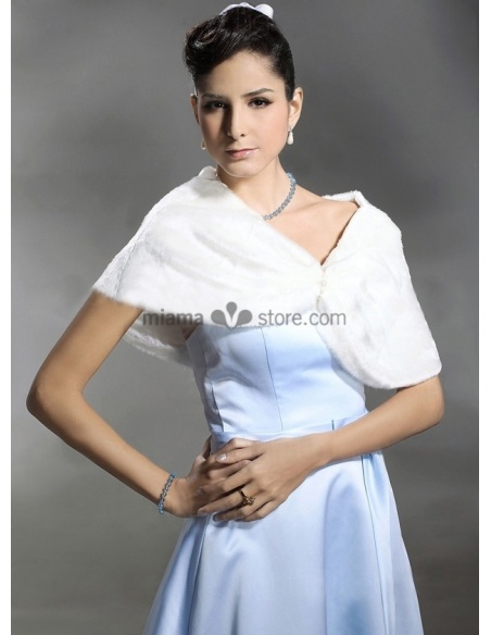 Coprispalle da sposa in eco pelliccia