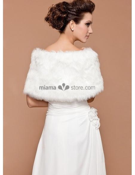 Stola da Sposa in eco pelliccia