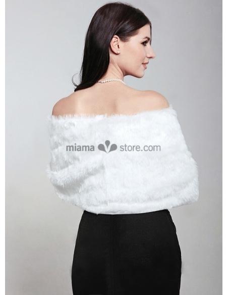 Bright faux fur Bridal jacket Wedding wrap