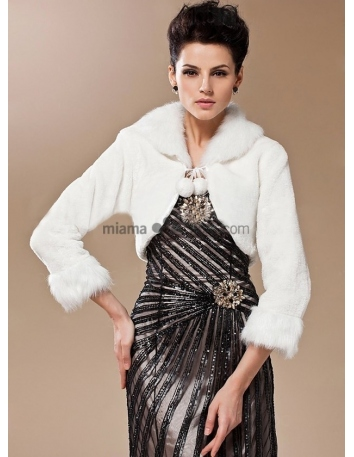 Long sleeves Bright faux fur Short faux fur Bridal jacket Wedding wrap