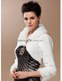 Long sleeves Bright faux fur Short faux fur Bridal jacket Wedding wrap