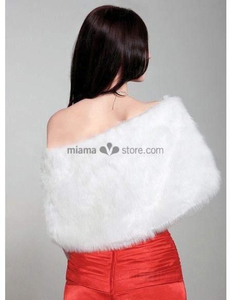 Bright faux fur Bridal jacket Wedding wrap