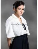 Short faux fur Bridal jacket Wedding wrap