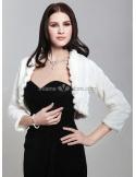 Long sleeves Short faux fur Bridal jacket Wedding wrap