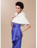 Bright faux fur Short faux fur Bridal jacket Wedding wrap