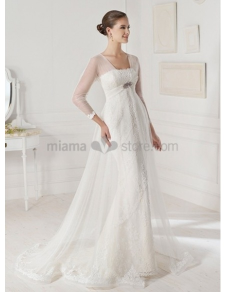 NATALIA - Sheath Strapless Court train Stian Wedding dress