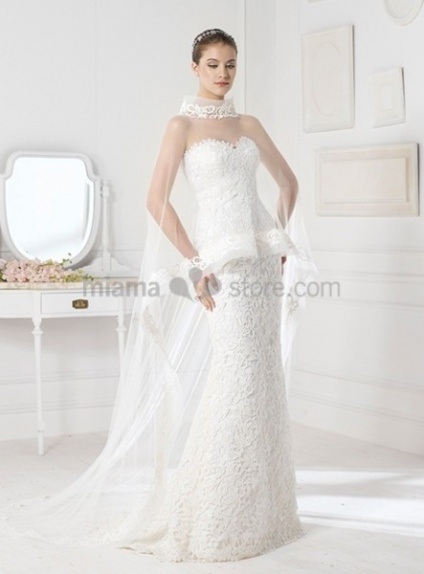 NINA - Sheath Mermaid Sweetheart Court train Lace Wedding dress