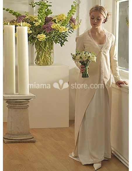 ANASTASIA - Sheath Court train Taffeta Low round/Scooped neck Wedding coat