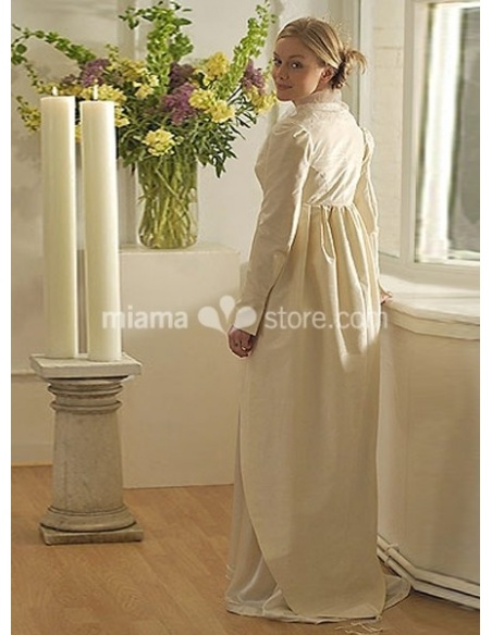 ANASTASIA - Sheath Court train Taffeta Low round/Scooped neck Wedding coat