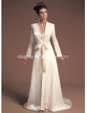 VALERIA - A-line Chapel train Stian V-neck Wedding coat
