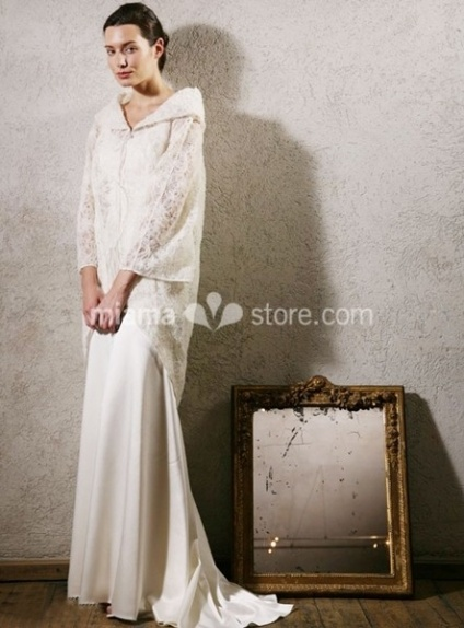 ELLIE - Sheath Lace Turndown collar Wedding coat