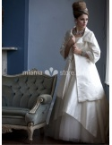 DENISA - A-line Short/Mini Stian Turndown collar Wedding coat