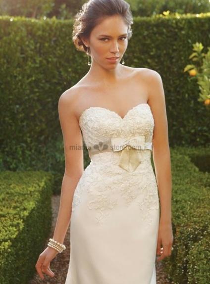 Taffeta Bowknot Wedding sash