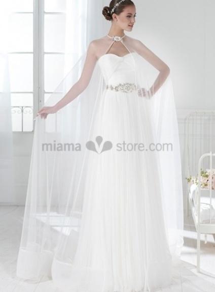 JENNIFER - Sheath Sweetheart Court train Chiffon Wedding dress