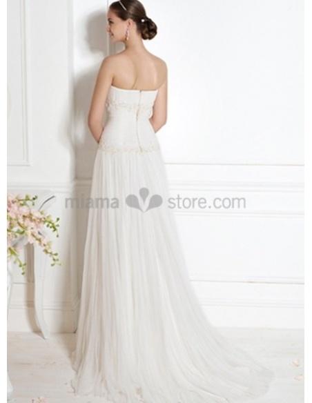 ABIGAIL - A-line Strapless Court train Wedding dress