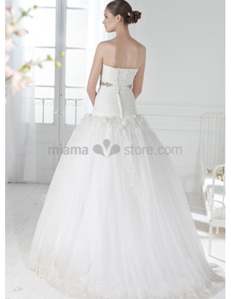 WHITHEY - A-line Strapless Chapel train Wedding dress