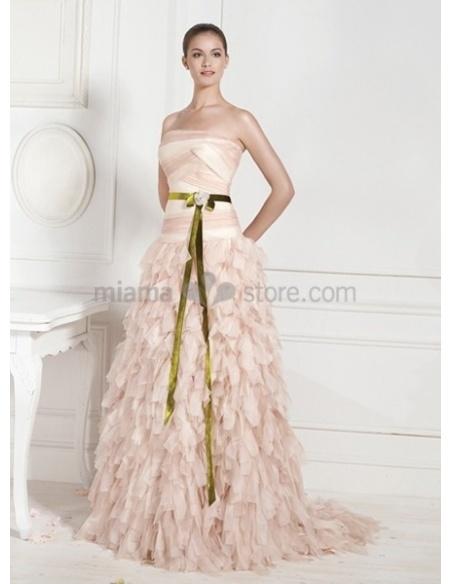 KATHARINE - A-line Strapless Chapel train Wedding dress