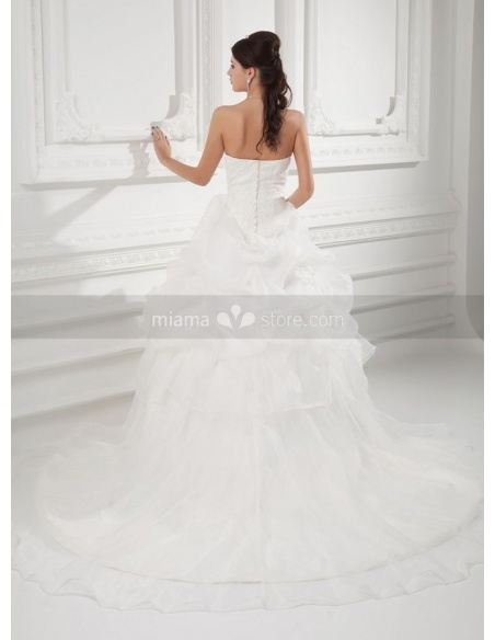 LUCIA - A-line Sweetheart Chapel train Organza Weeding dress