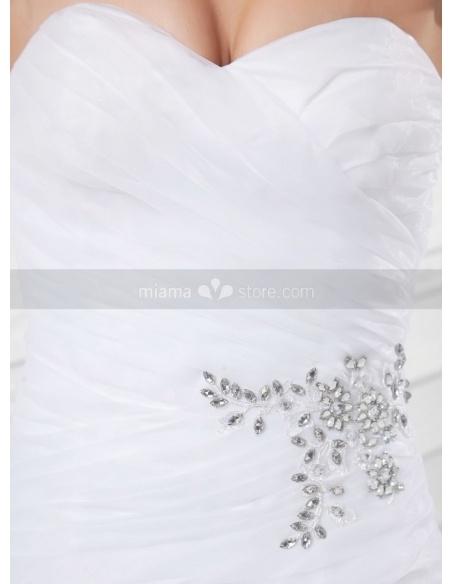 KELLY - A-line Sweetheart Chapel train Organza Weeding dress