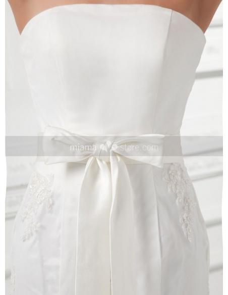 TERESA - A-line Mermaid Chapel train Tulle Strapless Weeding dress
