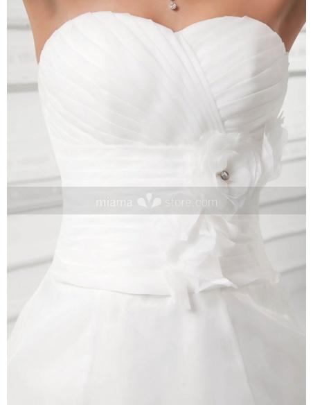 SABRINA - A-line Sweetheart Chapel train Organza Weeding dress