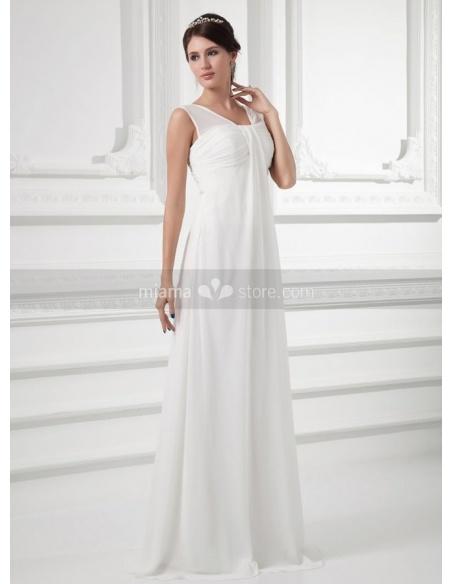 ROXANNE - Sheath V-neck Court train Chiffon Weeding dress