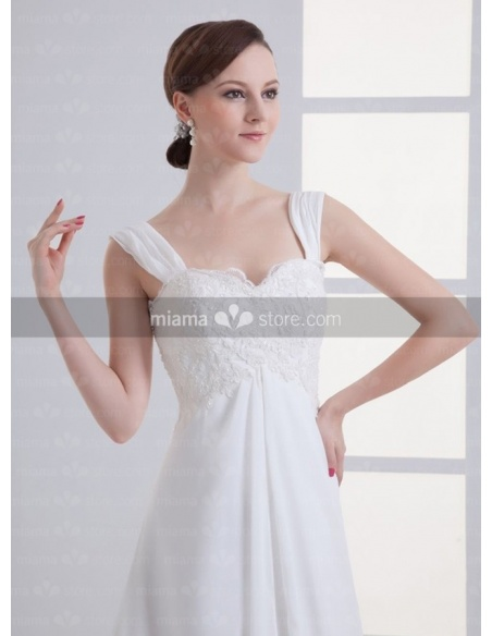 PRISCILLA - A-line Sweetheart Cheap Chapel train Chiffon Weeding dress