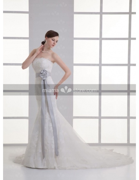 ADONIA - Mermaid Strapless Chapel train Tulle Weeding dress