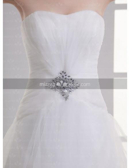 ALYSA - A-line Sweetheart Chapel train Tulle Weeding dress