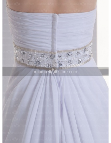 ADELAIDE - A-line Halter Cheap Chapel train Weeding dress
