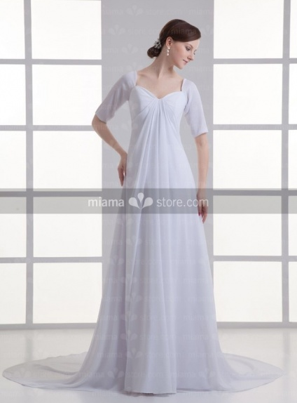 ANTONIA - A-line V-neck Cheap Chapel train Chiffon Weeding dress
