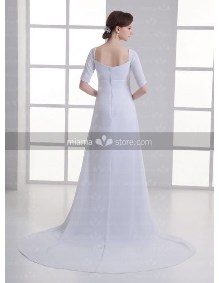ANTONIA - A-line V-neck Cheap Chapel train Chiffon Weeding dress