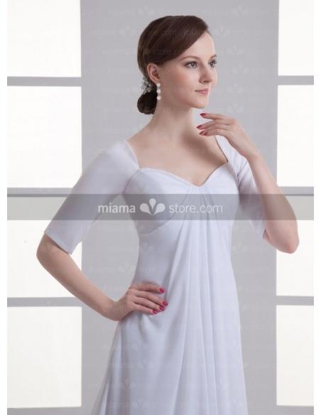 ANTONIA - A-line V-neck Cheap Chapel train Weeding dress