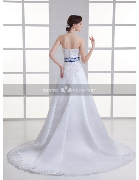 ASTRID - A-line Strapless Empire waist Chapel train Weeding dress