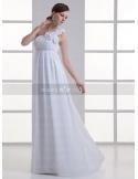 BEVERLY - Sheath Empire waist Cheap Court train Chiffon One shoulder Weeding dress