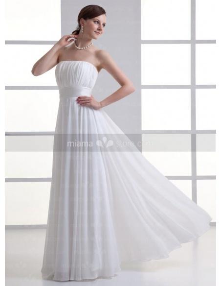 JULIANA - Sheath Strapless Empire waist Cheap Floor length Weeding dress