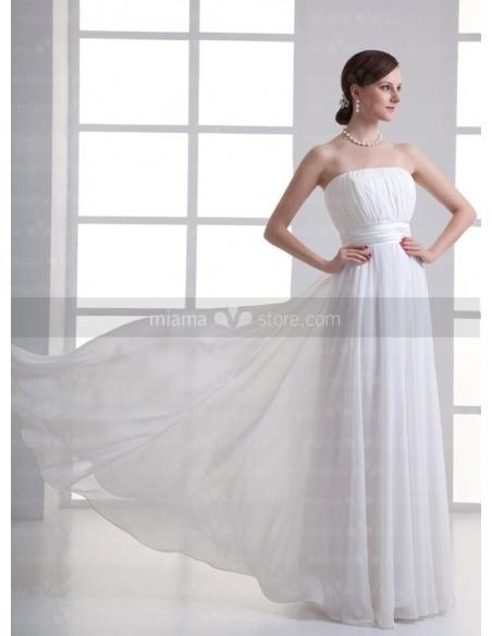 JULIANA - Sheath Strapless Empire waist Cheap Floor length Chiffon Weeding dress