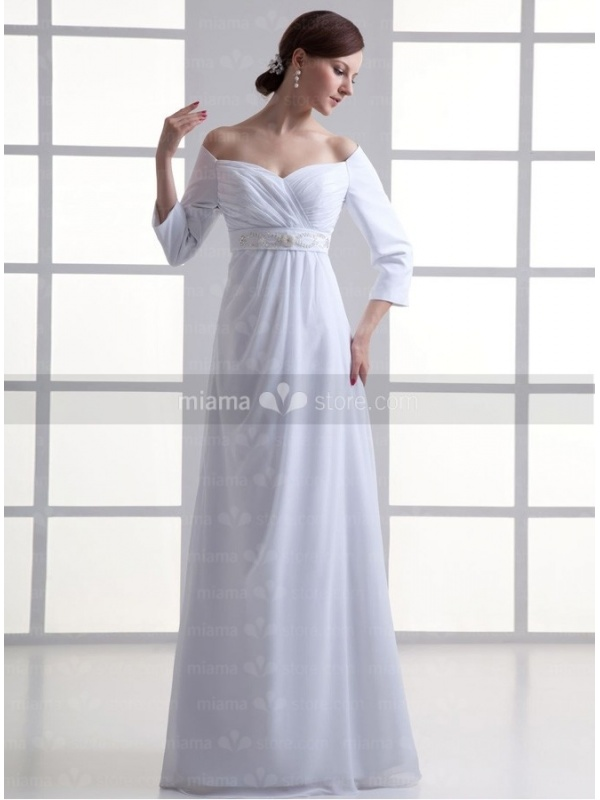 Robe avec taille empire