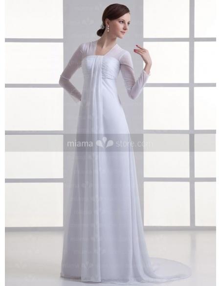 RIMMA - Sheath Empire waist Strapless Cheap Chapel train Weeding dress
