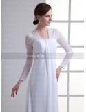 RIMMA - Sheath Empire waist Strapless Cheap Chapel train Chiffon Weeding dress
