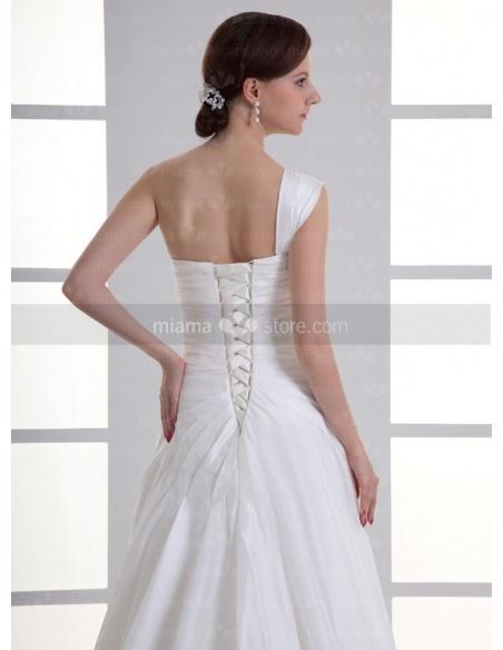 IULIA - A-line Chapel train Taffeta One shoulder Weeding dress