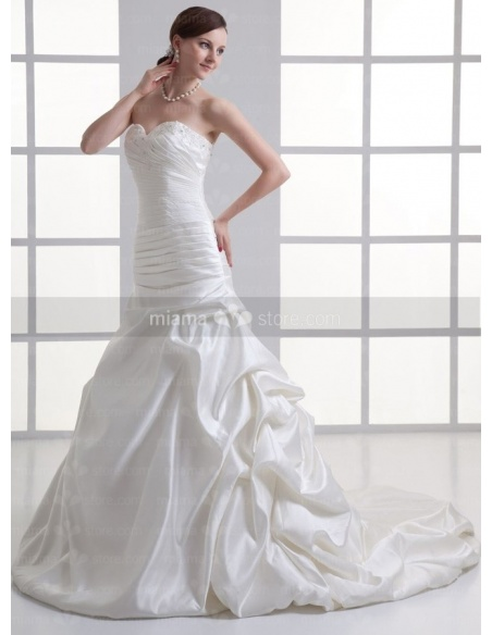 SVITA - A-line Sweetheart Chapel train Satin Weeding dress