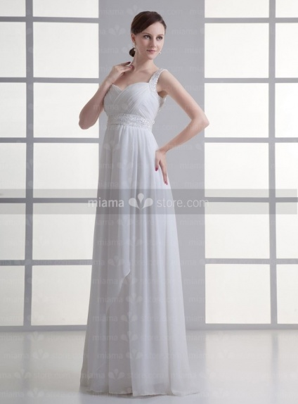IRYNA - Empire waist Sweetheart Cheap Floor length Chiffon Weeding dress
