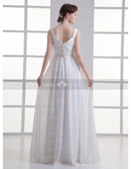 IRYNA - Empire waist Sweetheart Cheap Floor length Chiffon Weeding dress