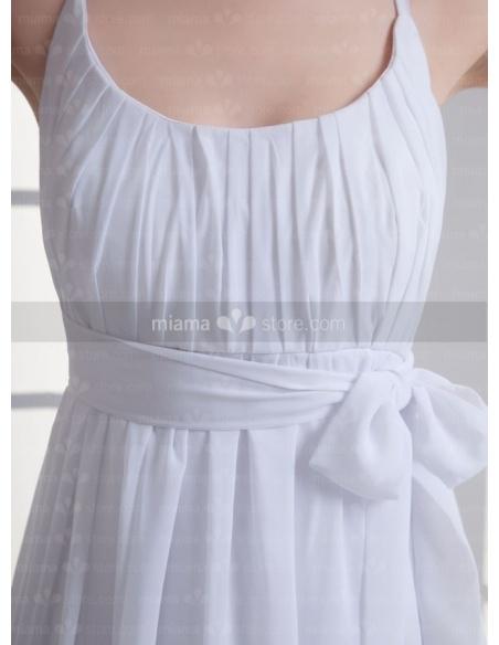 SANDRA - Empire waist Cheap Floor length Low round/Scooped neck Weeding dress