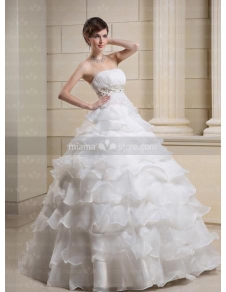 CATHY - A-line Ball gown Strapless Empire waist Floor length Wedding dress