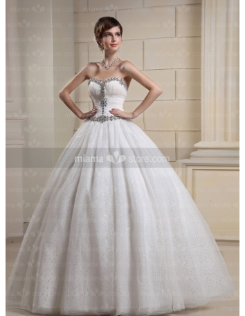 CELESTE - A-line Ball gown Sweetheart Floor length Tulle Wedding dress