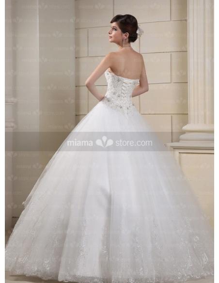 CHERRY - A-line Ball gown Sweetheart Floor length Tulle Wedding dress