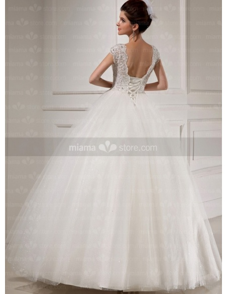 CHLOE - A-line Ball gown Sweetheart Floor length Tulle Wedding dress